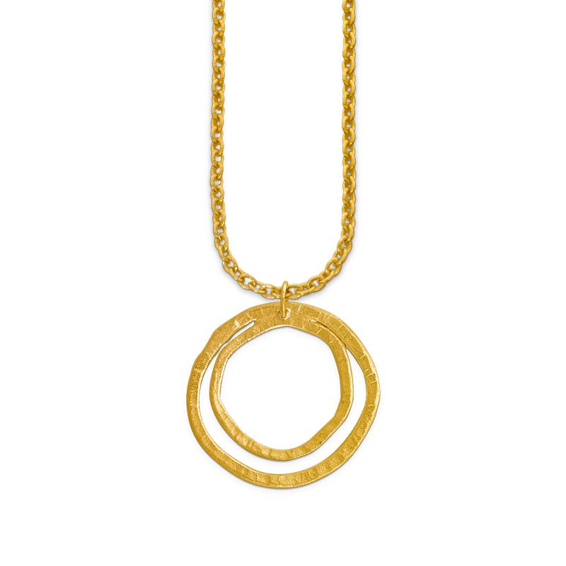 OSCAR & FILU Anhänger Silbervergoldet AH0112017SVG