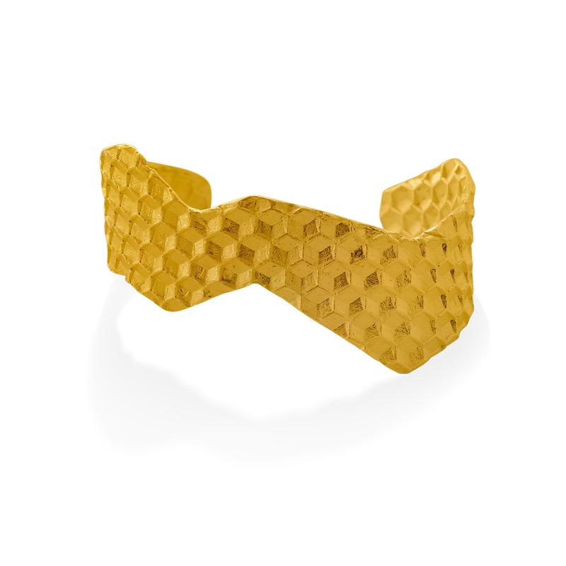 OSCAR & FILU Armreifen Silbervergoldet AR0102017SVG