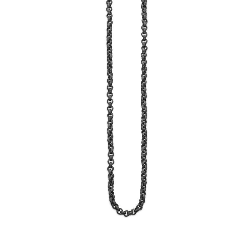 OSCAR & FILU Kette S BLACKSILVER K0012016BS