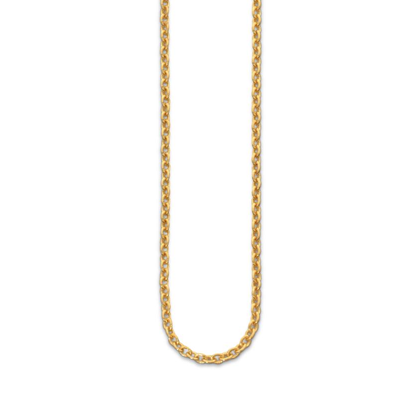 OSCAR & FILU Kette M Silbervergoldet K0022016SVG