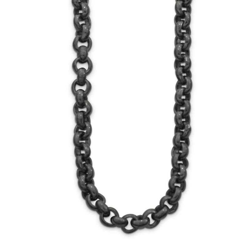 OSCAR & FILU Kette L BLACKSILVER K0032016BS
