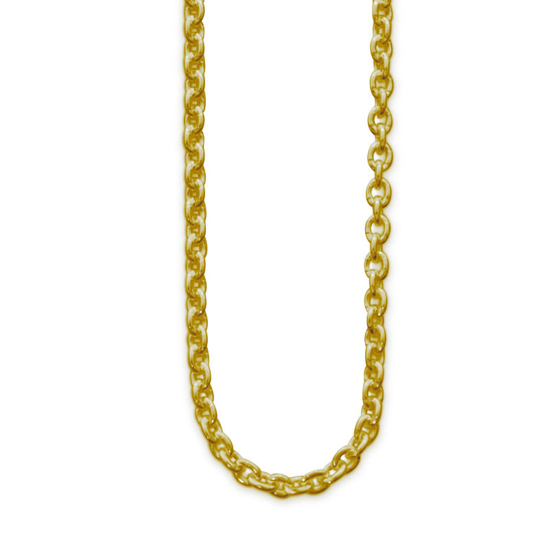 OSCAR & FILU Kette L Silbervergoldet K0032016SVG