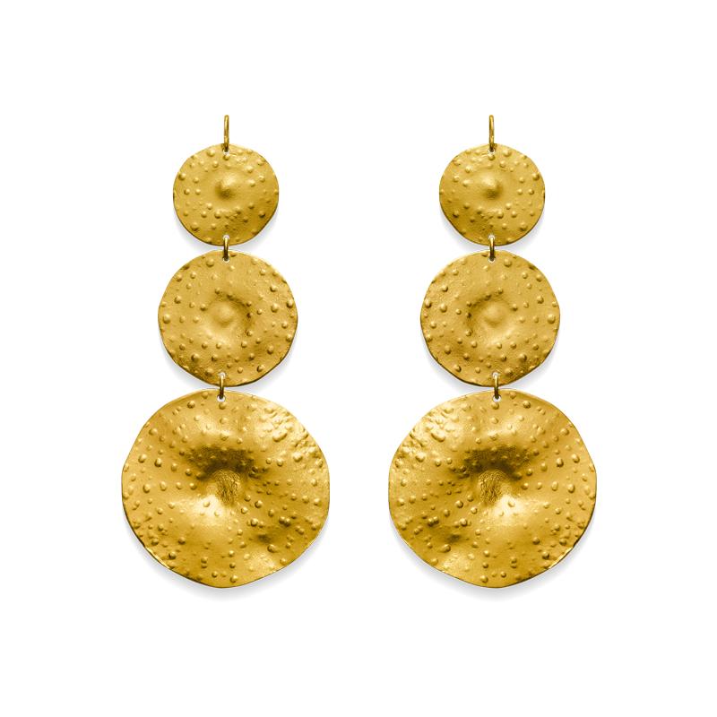 OSCAR & FILU Ohrschmuck Silbervergoldet OS0022017SVG
