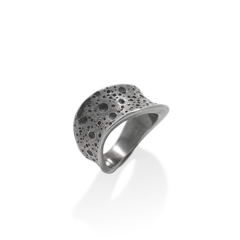OSCAR & FILU Ring BLACKSILVER R0012017BS