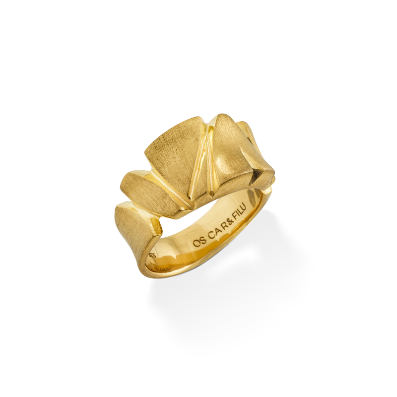 OSCAR & FILU Ring Silbervergoldet R0022016SVG