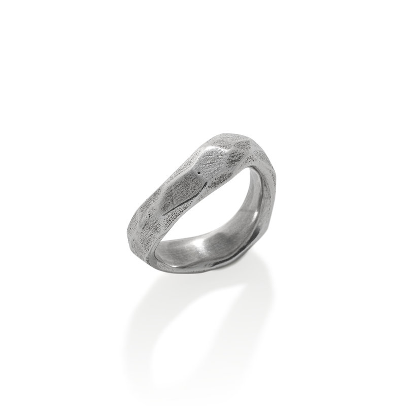 OSCAR & FILU Ring BLACKSILVER R0022017BS