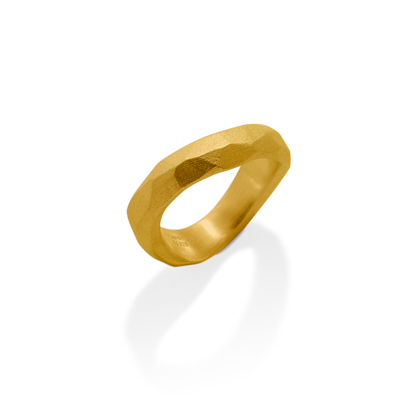OSCAR & FILU Ring Silbervergoldet R0022017SVG