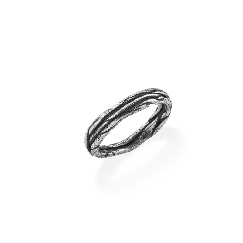 OSCAR & FILU Ring BLACKSILVER R0042016BS