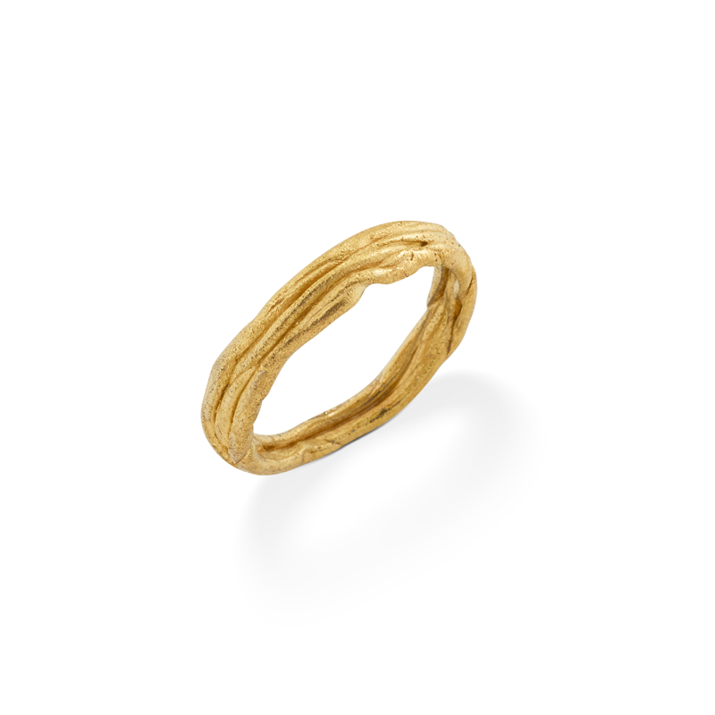 OSCAR & FILU Ring Silbervergoldet R0042016SVG