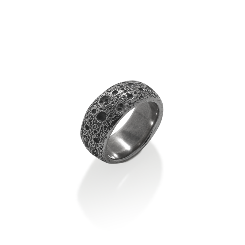 OSCAR & FILU Ring BLACKSILVER R0042017BS