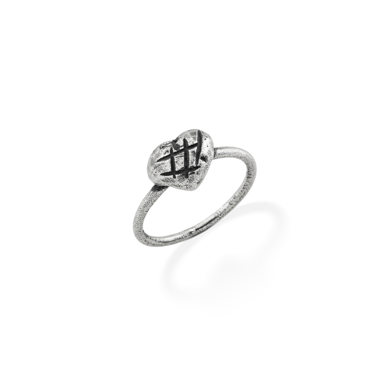OSCAR & FILU Ring BLACKSILVER R0062016BS