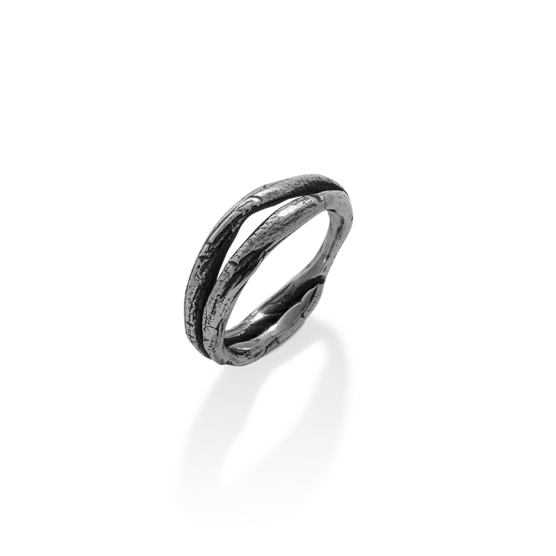 OSCAR & FILU Ring BLACKSILVER R0072017BS