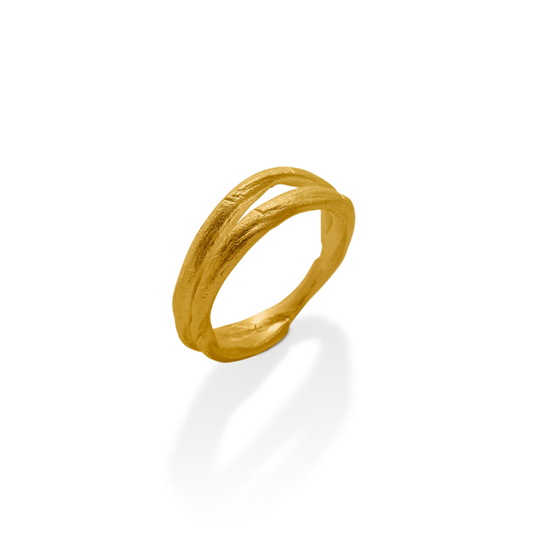 OSCAR & FILU Ring Silbervergoldet R0072017SVG