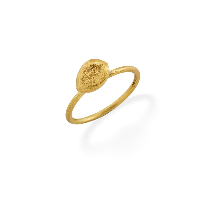OSCAR & FILU Ring Silbervergoldet R0082016SVG