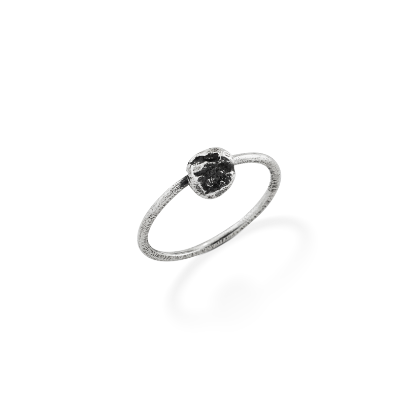 OSCAR & FILU Ring BLACKSILVER R0092016BS