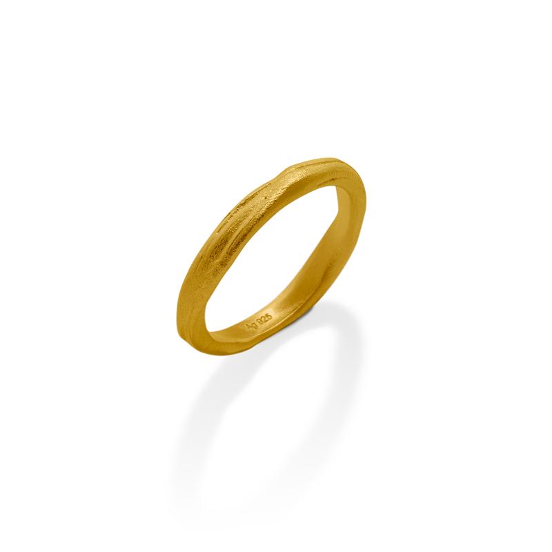 OSCAR & FILU Ring Silbervergoldet R0092017SVG