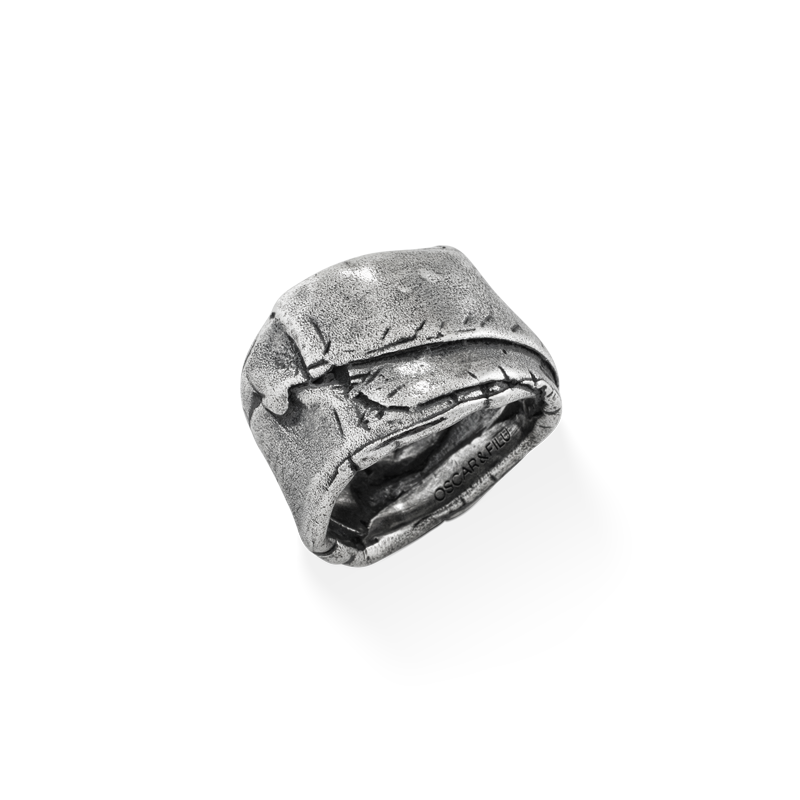 OSCAR & FILU Ring BLACKSILVER R0102016BS