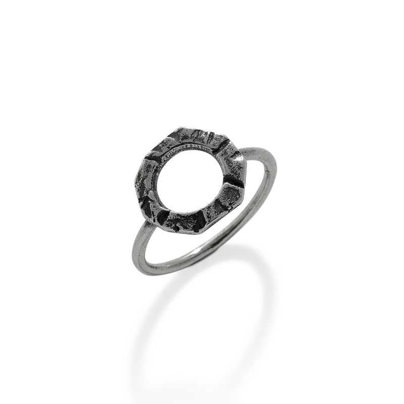 OSCAR & FILU Ring BLACKSILVER R0102017BS