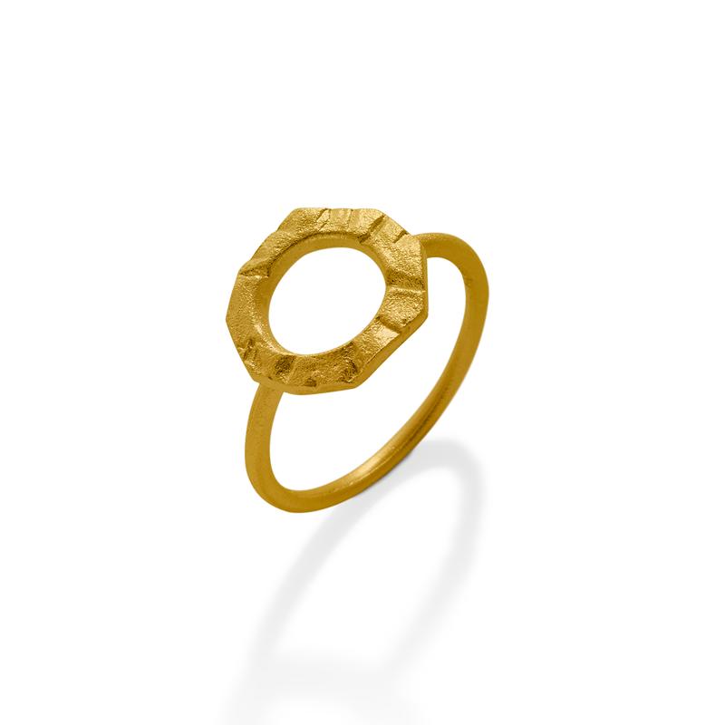 OSCAR & FILU Ring Silbervergoldet R0102017SVG
