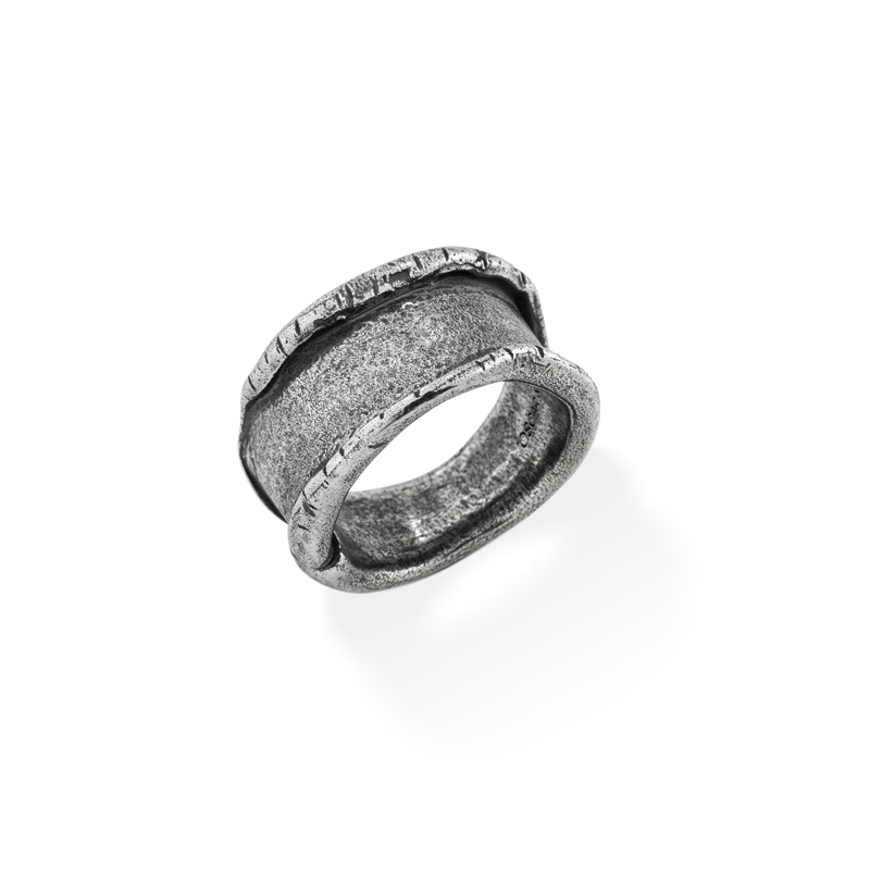 OSCAR & FILU Ring BLACKSILVER R0112016BS