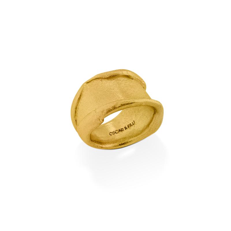 OSCAR & FILU Ring Silbervergoldet R0112016SVG