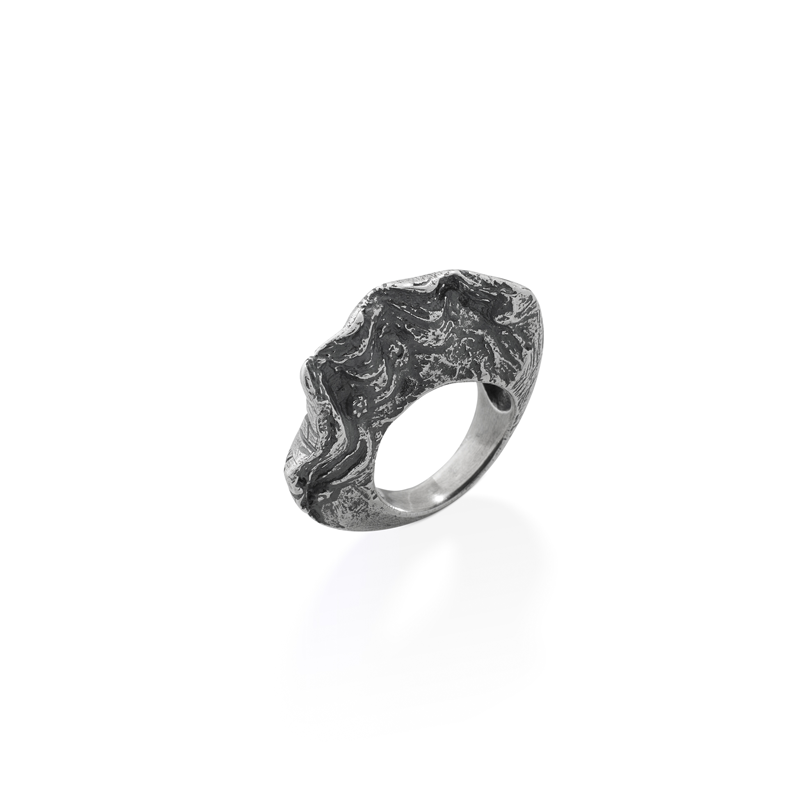 OSCAR & FILU Ring BLACKSILVER R0132017BS