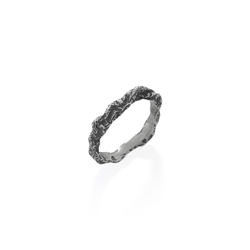 OSCAR & FILU Ring BLACKSILVER R0142017BS