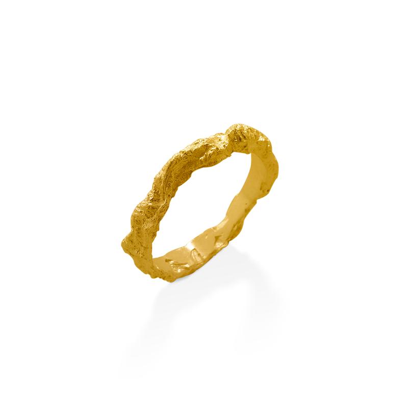 OSCAR & FILU Ring Silbervergoldet R0142017SVG