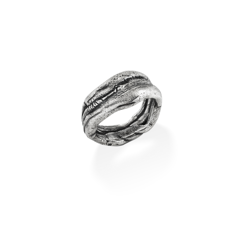 OSCAR & FILU Ring BLACKSILVER R0152016BS