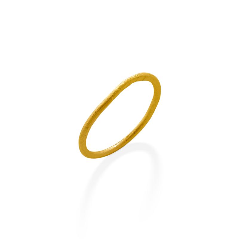 OSCAR & FILU Ring Silbervergoldet R0162017SVG