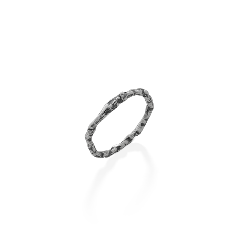 OSCAR & FILU Ring BLACKSILVER R0172017BS