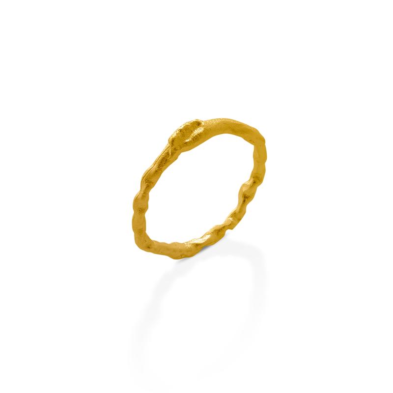 OSCAR & FILU Ring Silbervergoldet R0172017SVG