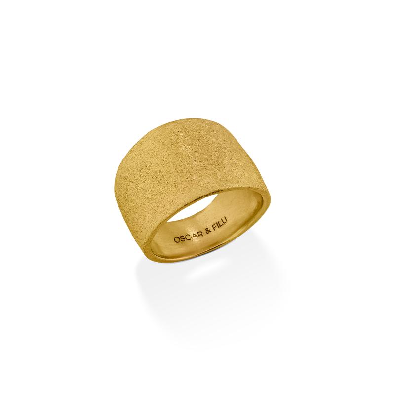 OSCAR & FILU Ring Silbervergoldet R0192016SVG