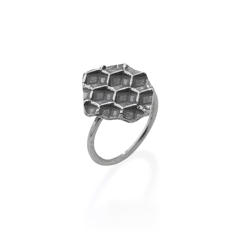 OSCAR & FILU Ring BLACKSILVER R0202017BS