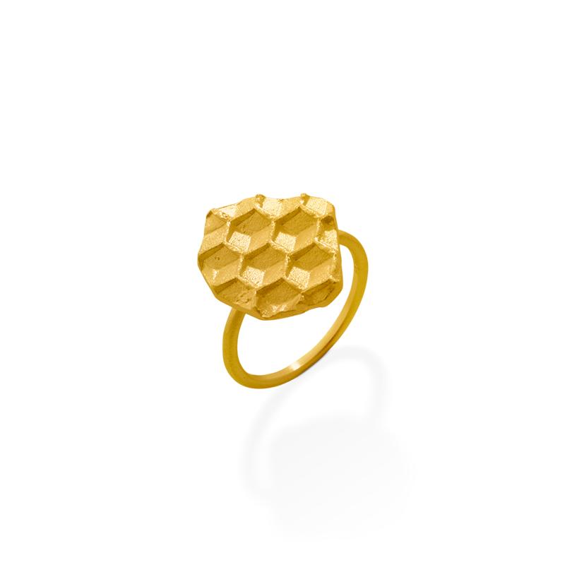 OSCAR & FILU Ring Silbervergoldet R0202017SVG