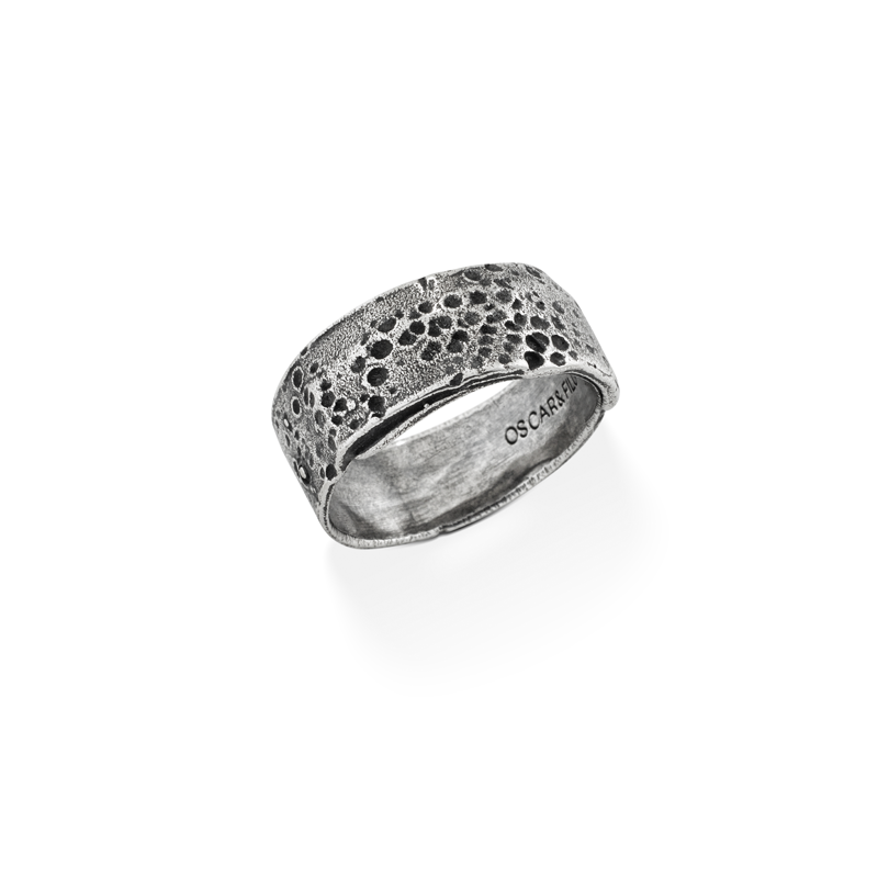 OSCAR & FILU Ring BLACKSILVER R0222016BS